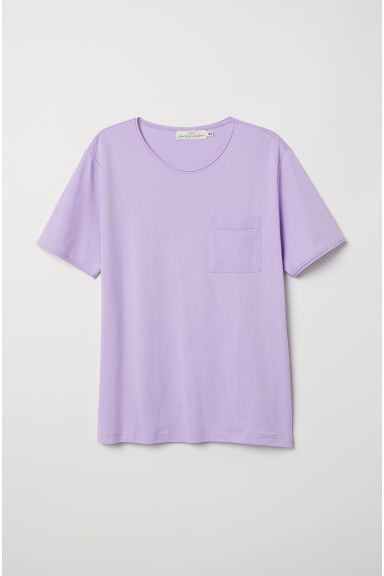T-shirt with a chest pocket - Light purple - Men | H&M