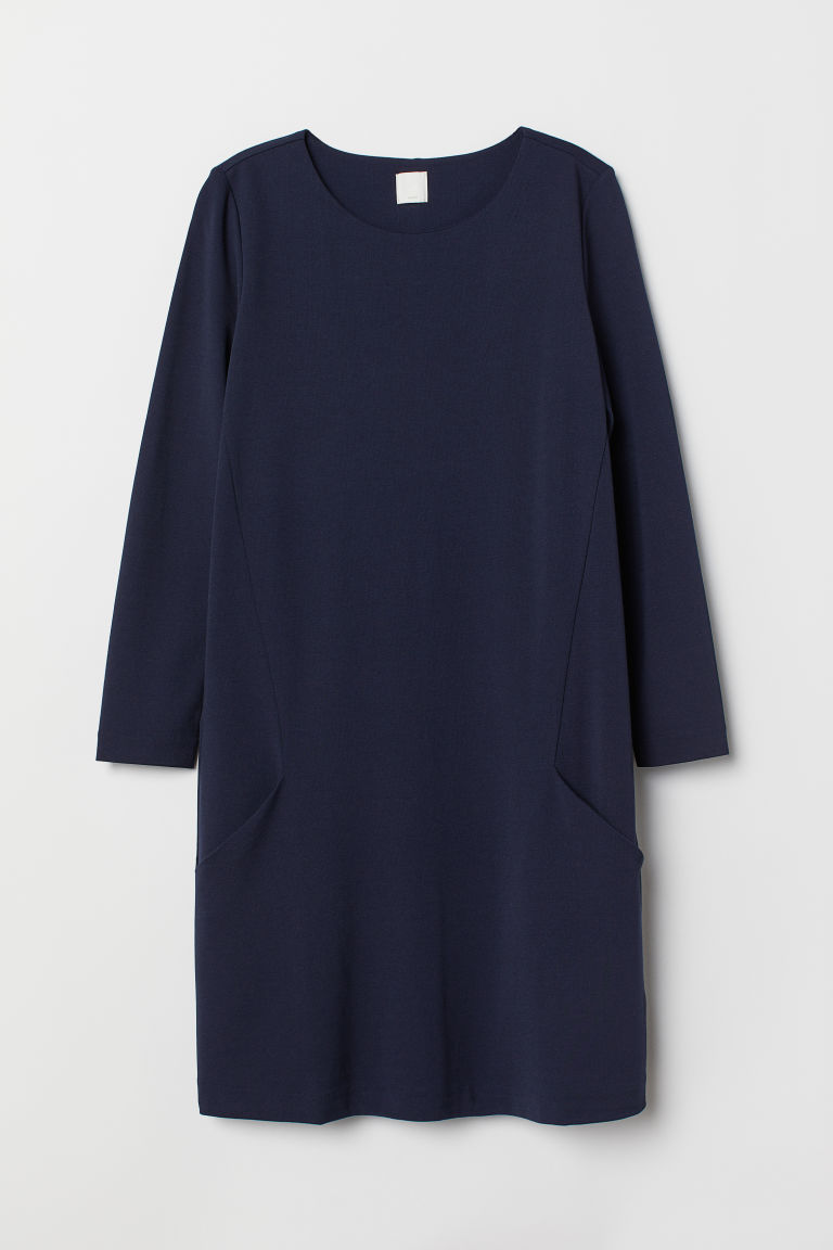 Jersey dress - Dark blue - Ladies | H&M GB