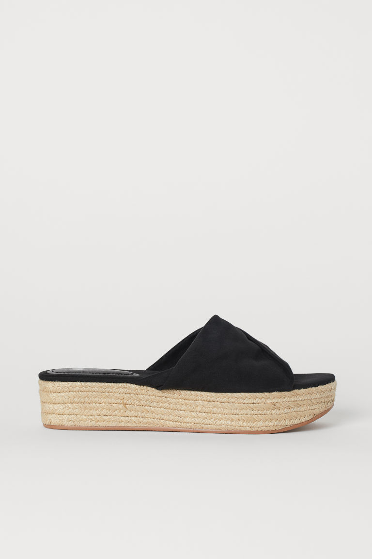 Platform Sandals - Black - Ladies | H&M US