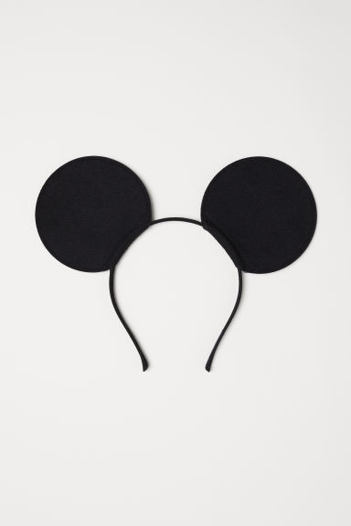 Alice band with ears - Black/Mickey Mouse -  | H&M CN