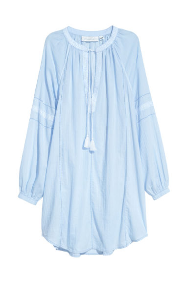 Cotton tunic - Light blue -  | H&M