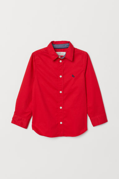 Cotton shirt - Red - Kids | H&M