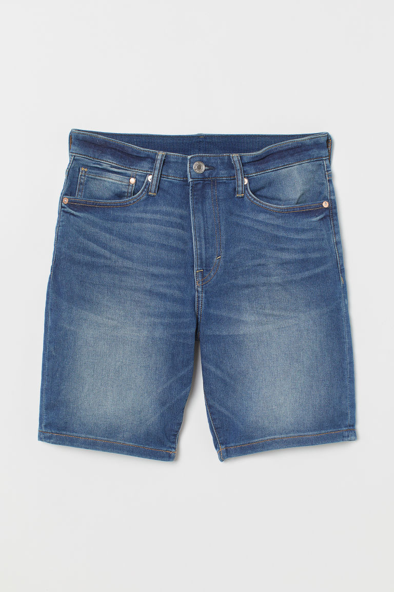 Straight Denim Shorts - Denim blue - Men | H&M