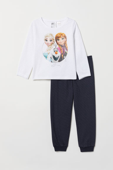 Pigiama in jersey - Bianco/Frozen -  | H&M IT