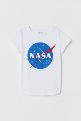 dd0afd0a758 Reversible sequin T-shirt - White/NASA - Kids | H&M IN