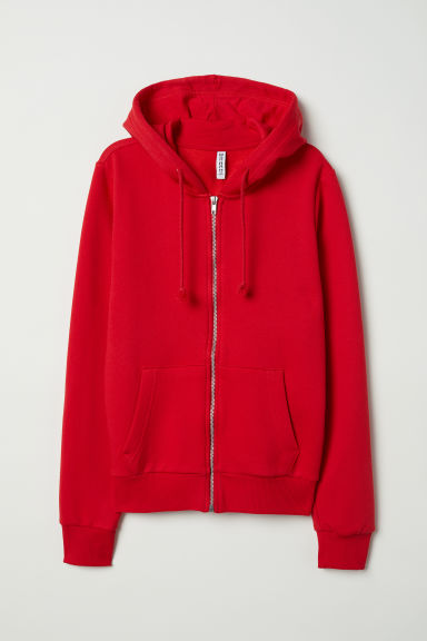 Hooded jacket - Bright red -  | H&M