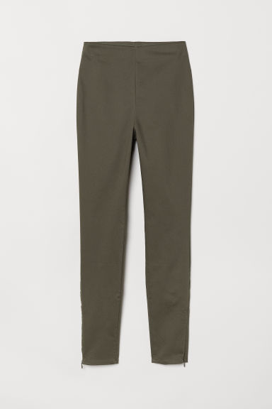 Superstretch trousers - Khaki green -  | H&M