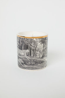 Scented candle in a holder