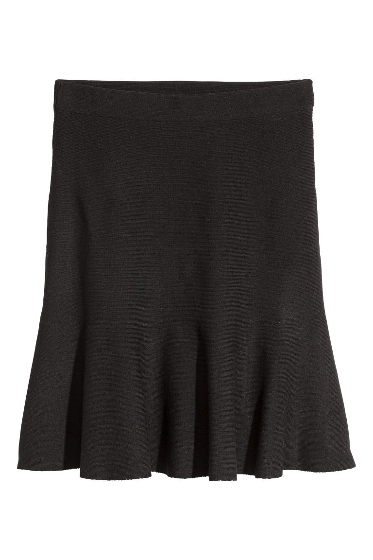 Bell-shaped skirt - Black - Ladies | H&M