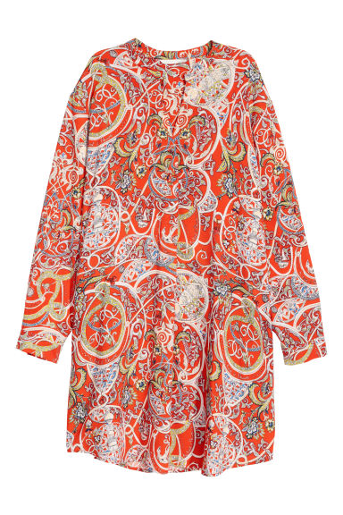 Tunic - Red/Patterned -  | H&M CN