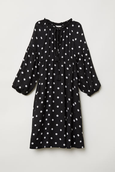 MAMA Dress - Black/Spotted -  | H&M
