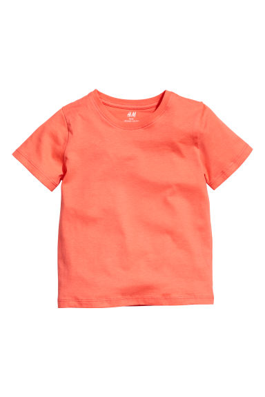 Cotton T-shirt - Orange -  | H&M