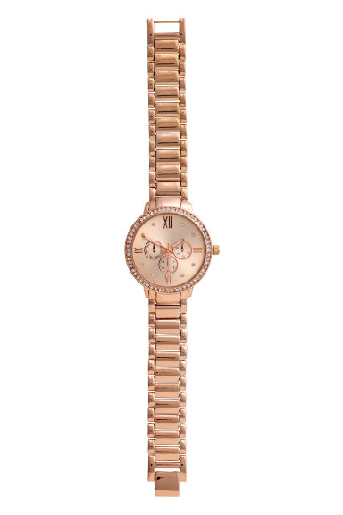 Metal watch - Rose gold-coloured -  | H&M CN