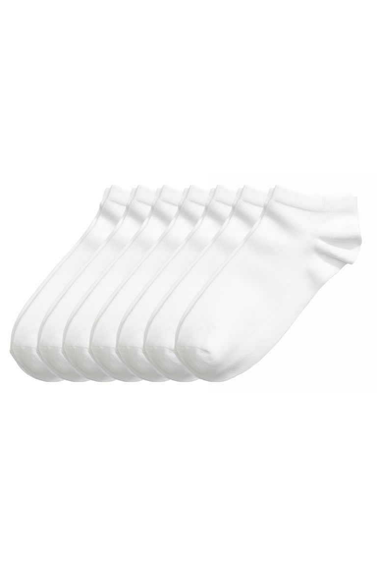 7-pack trainer socks - White - Kids | H&M