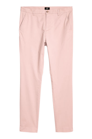 Cotton chinos Slim Fit - Old rose - Men | H&M CN