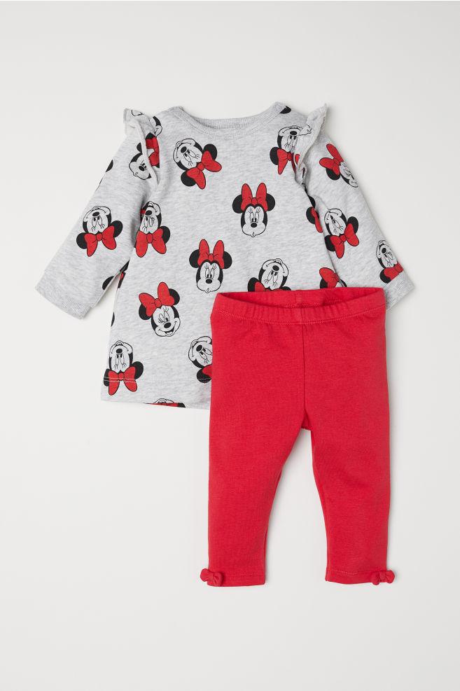 1bb60bdd811fdf Jurk en legging - Grijs gemêleerd Minnie Mouse -