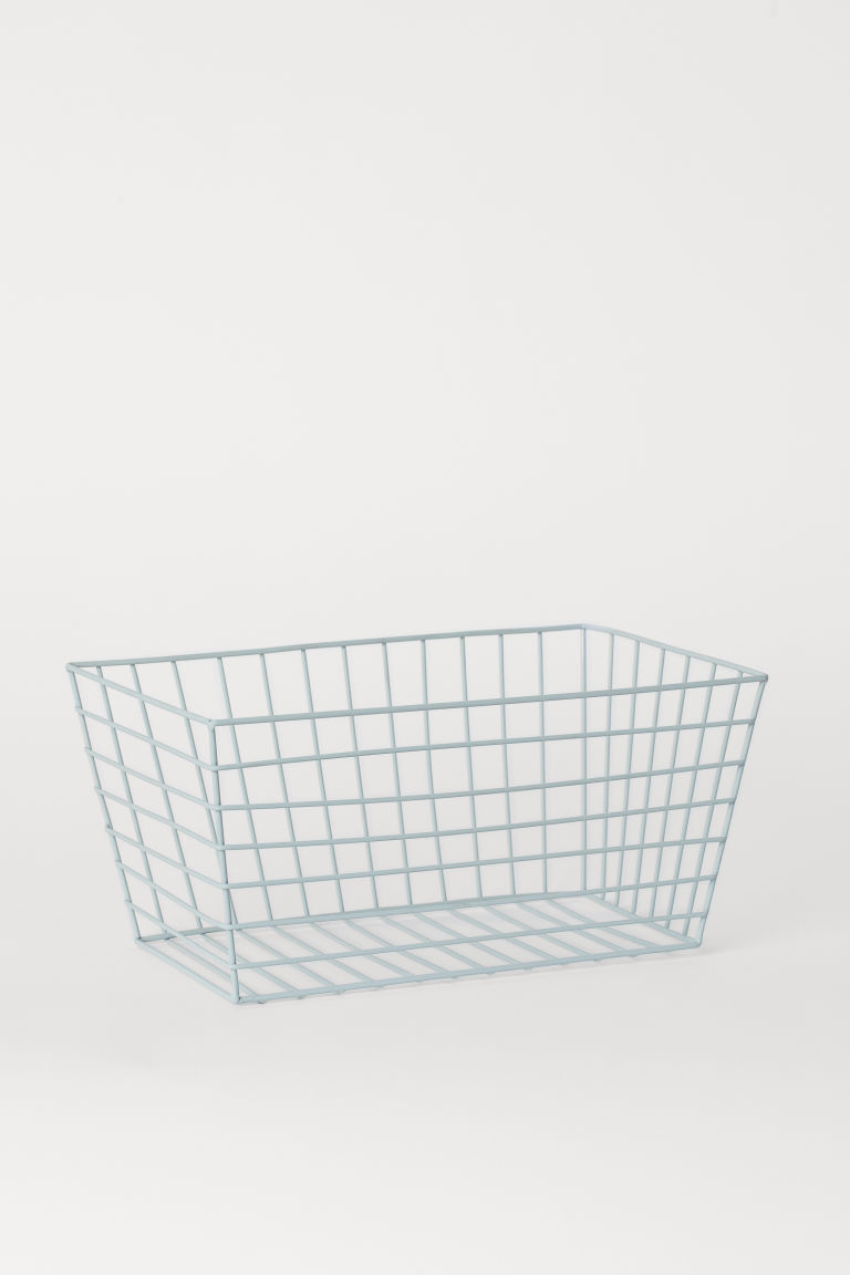 Large Metal Wire Basket - Turquoise - Home All | H&M US