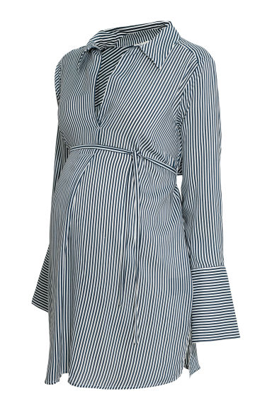 MAMA Tunic - White/Blue striped - Ladies | H&M