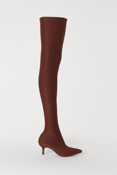 Thigh-high boots - Brown - Ladies | H&M