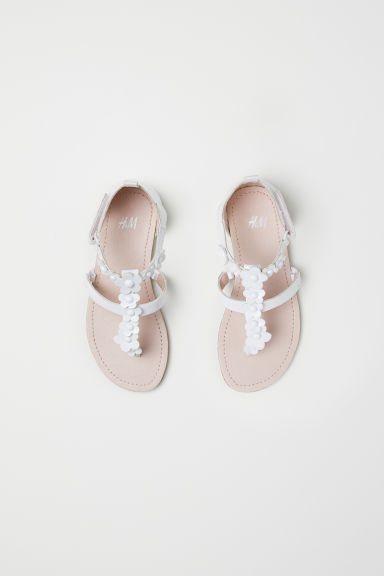 Sandals - White/Flowers - Kids | H&M