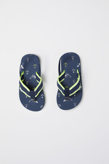 Flip-flops - Dark blue/Anchors -  | H&M