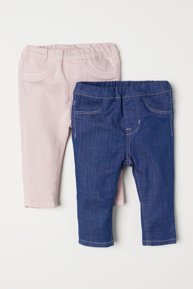 2-pack leggings - Dark denim blue/Light pink - Kids | H&M CN