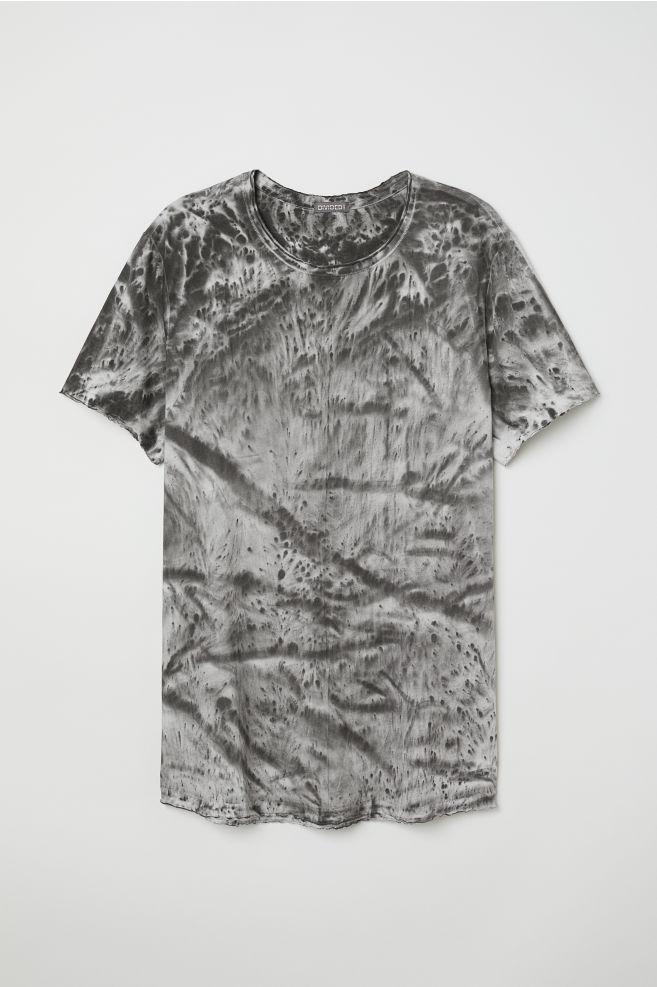 Mintás póló - Fehér szürke mintás - FÉRFI  80f493072e