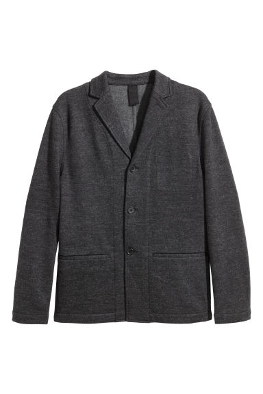 Jersey jacket Slim fit - Dark grey marl -  | H&M GB