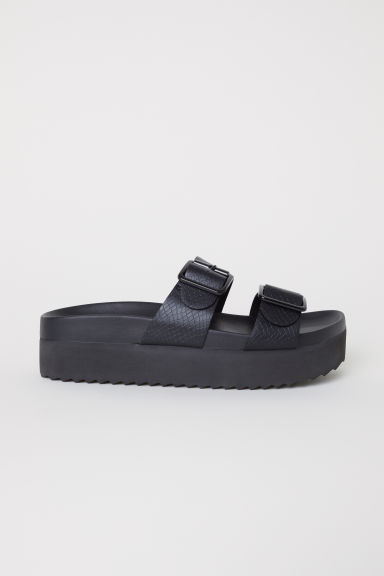 Platform Sandals - Black - Ladies | H&M CA
