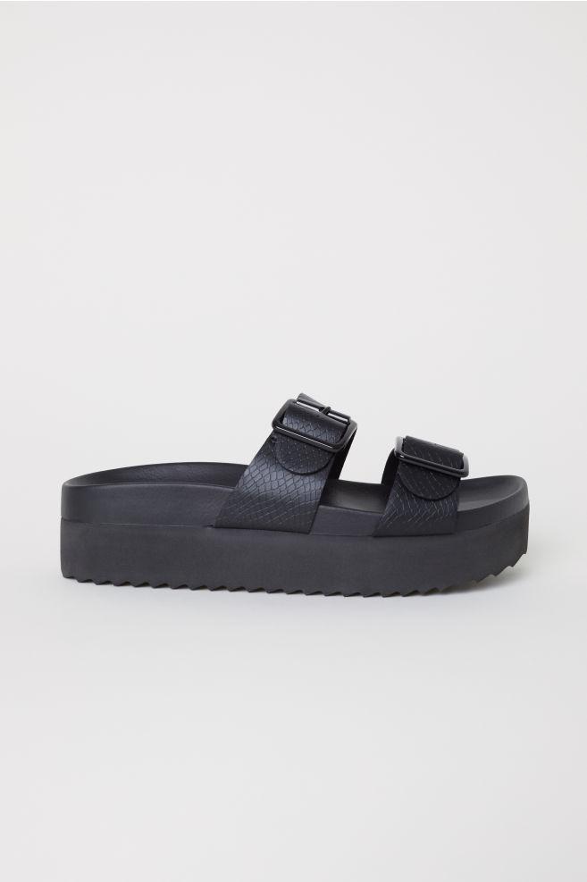 888a790a0 Platform Sandals - Black - | H&M ...