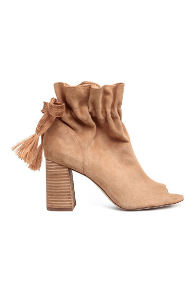 Suede ankle boots - Camel - Ladies | H&M