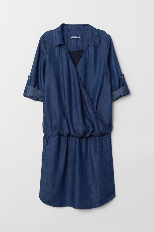 a0a341a99fc MAMA Nursing Dress - Denim blue - Ladies