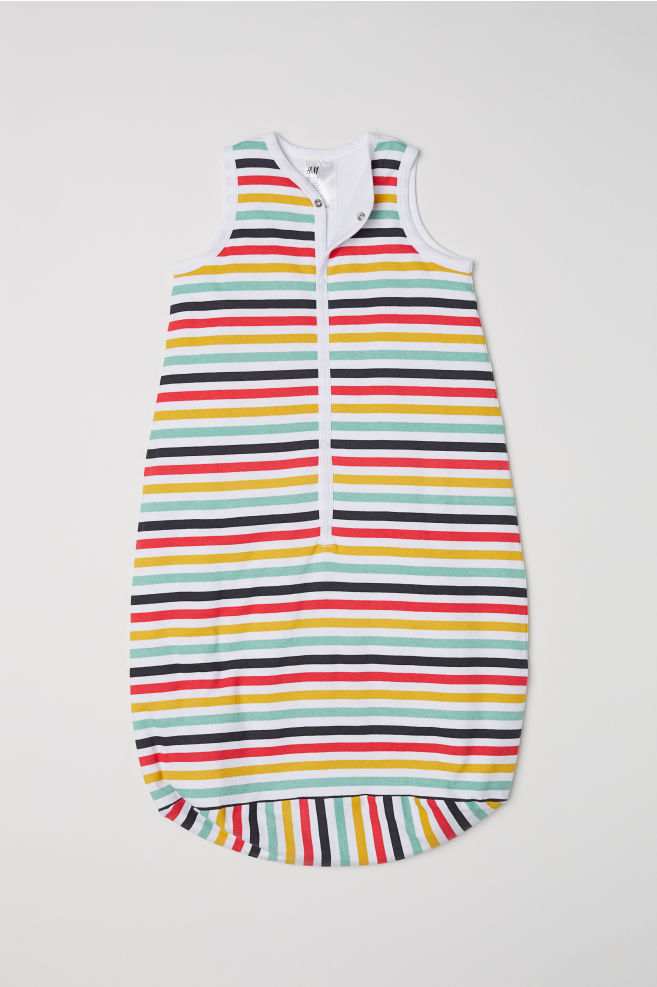 432800349380 Sleep bag - White Multicoloured stripes - Kids
