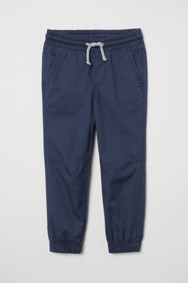 Cotton pull-on trousers - Dark blue - Kids | H&M