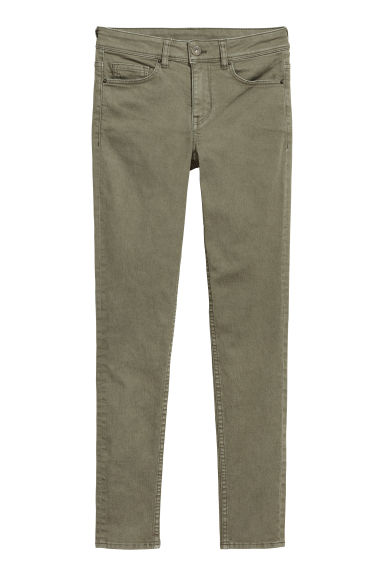 Petite Fit Super Skinny Jeans - Dark khaki green -  | H&M CN