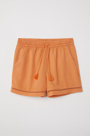 Lyocell shorts - Orange - Ladies | H&M CN