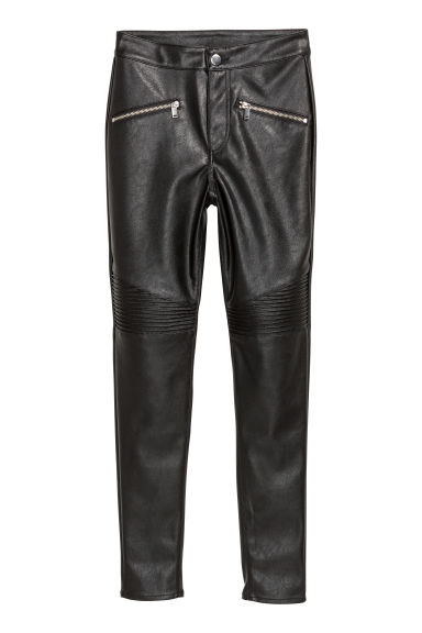 Biker trousers - Black - Ladies | H&M IE
