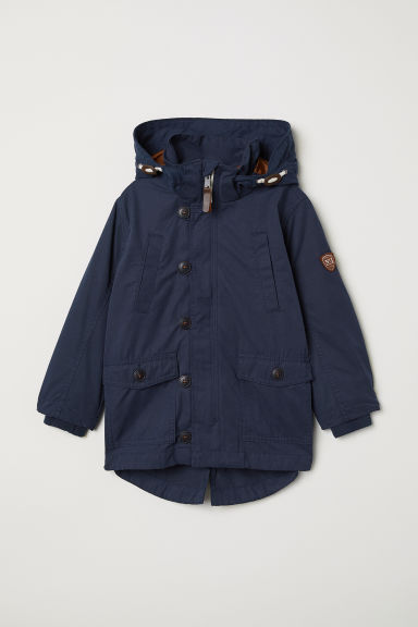 Parka with removable lining - Dark blue - Kids | H&M CN