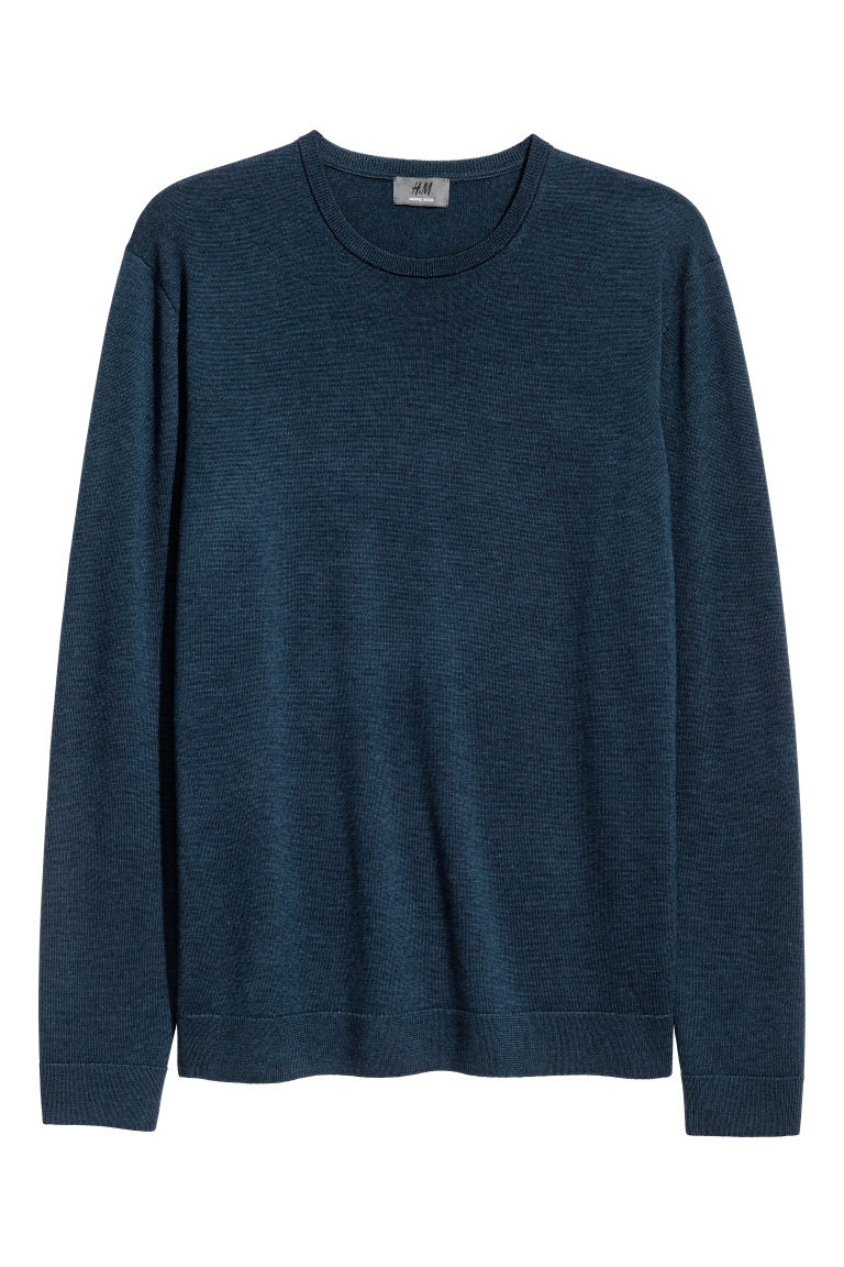 Merino wool jumper - Dark petrol - Men | H&M