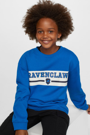 H&M 키즈 해리포터 레이븐클로 맨투맨 Printed Sweatshirt,Blue