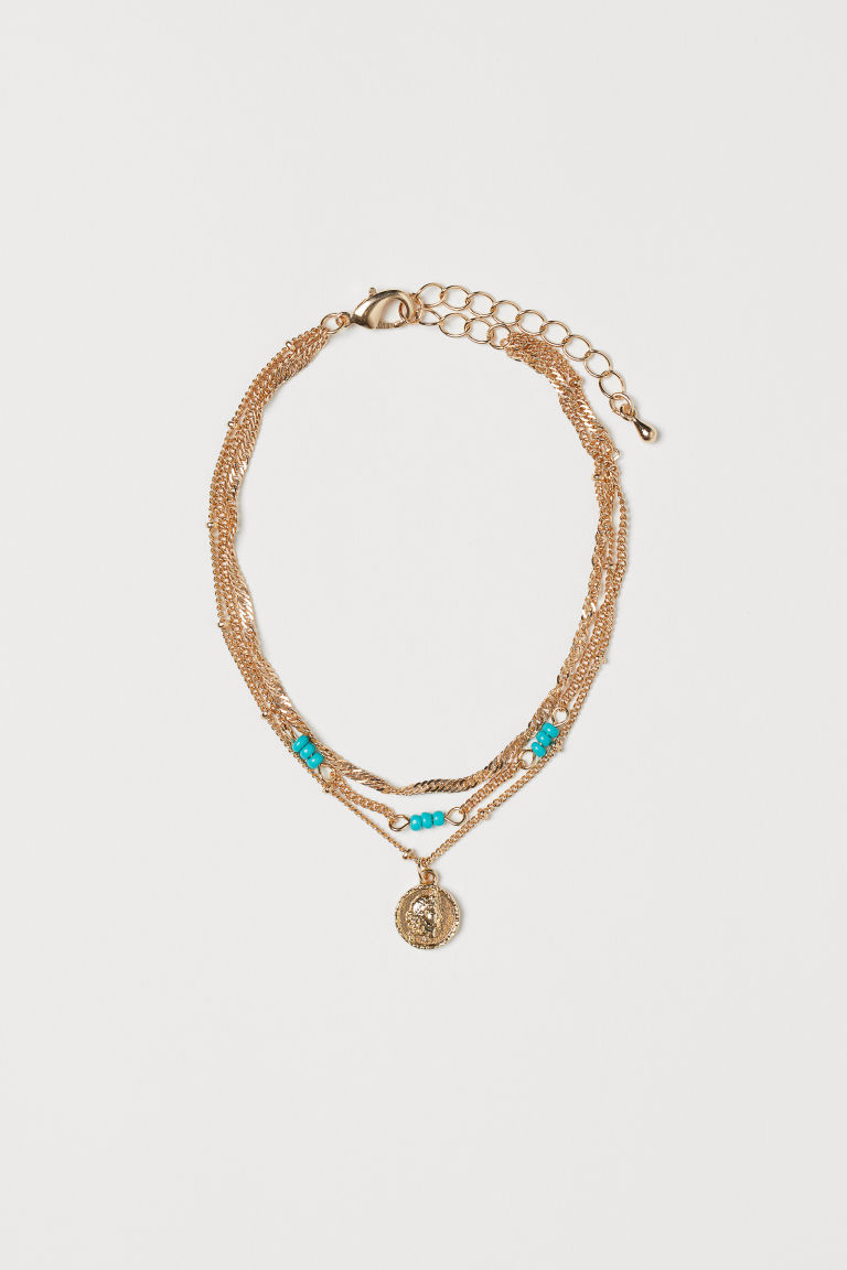 Three-strand anklet - Gold-coloured - Ladies | H&M