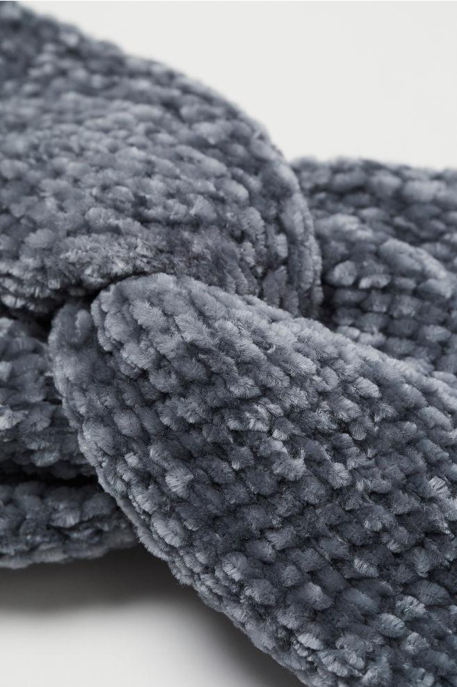 Chenille headband - Dark grey - Ladies  bc7cd1aa4a