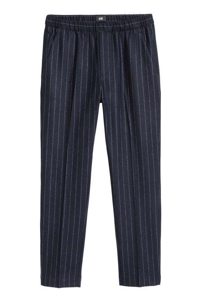 8f01d78d8 Pantalón de vestir Slim fit - Azul oscuro Rayas blancas - HOMBRE ...