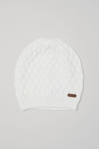 Cable-knit hat - Natural white - Kids | H&M CN