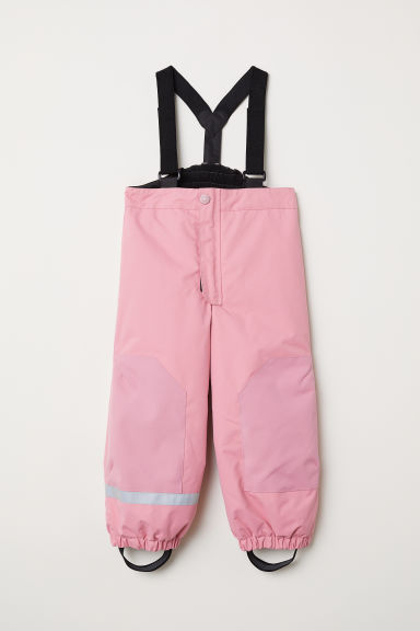 Outdoor trousers with braces - Light pink - Kids | H&M
