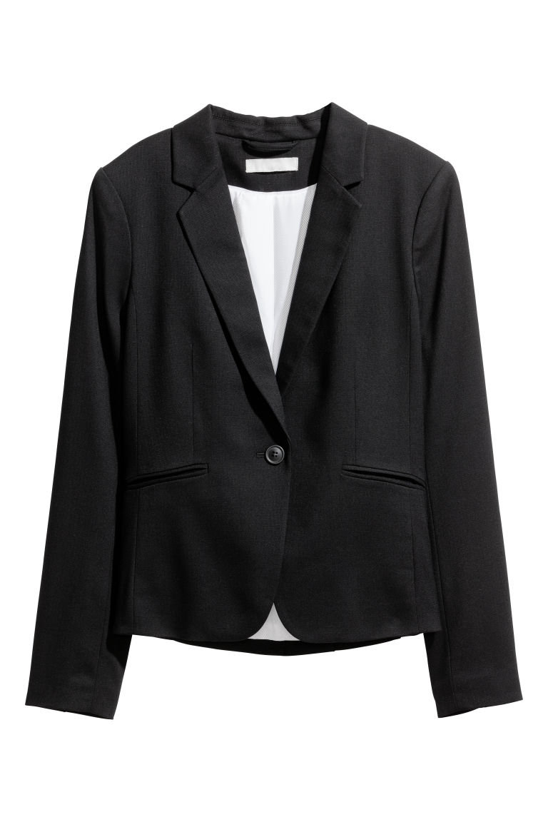 Fitted jacket - Black - Ladies | H&M