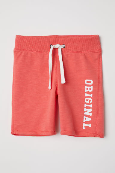 Sweatshirt shorts - Coral/Original - Kids | H&M CN