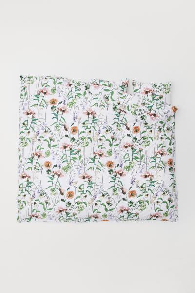H&M - Cotton satin duvet cover set - 1