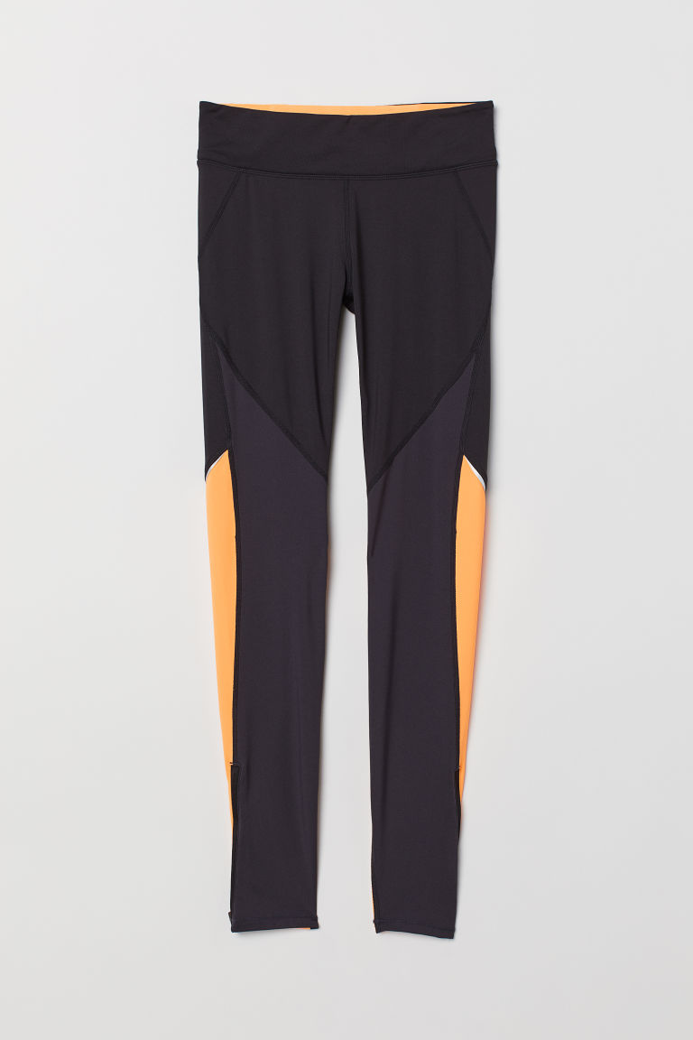 Running tights - Black/Orange - Ladies | H&M IE