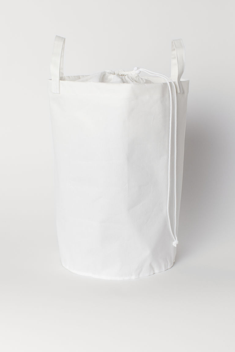 Cotton Twill Laundry Bag - White - Home All | H&M CA